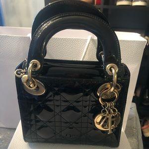 Lady Dior Mini Patent Bag